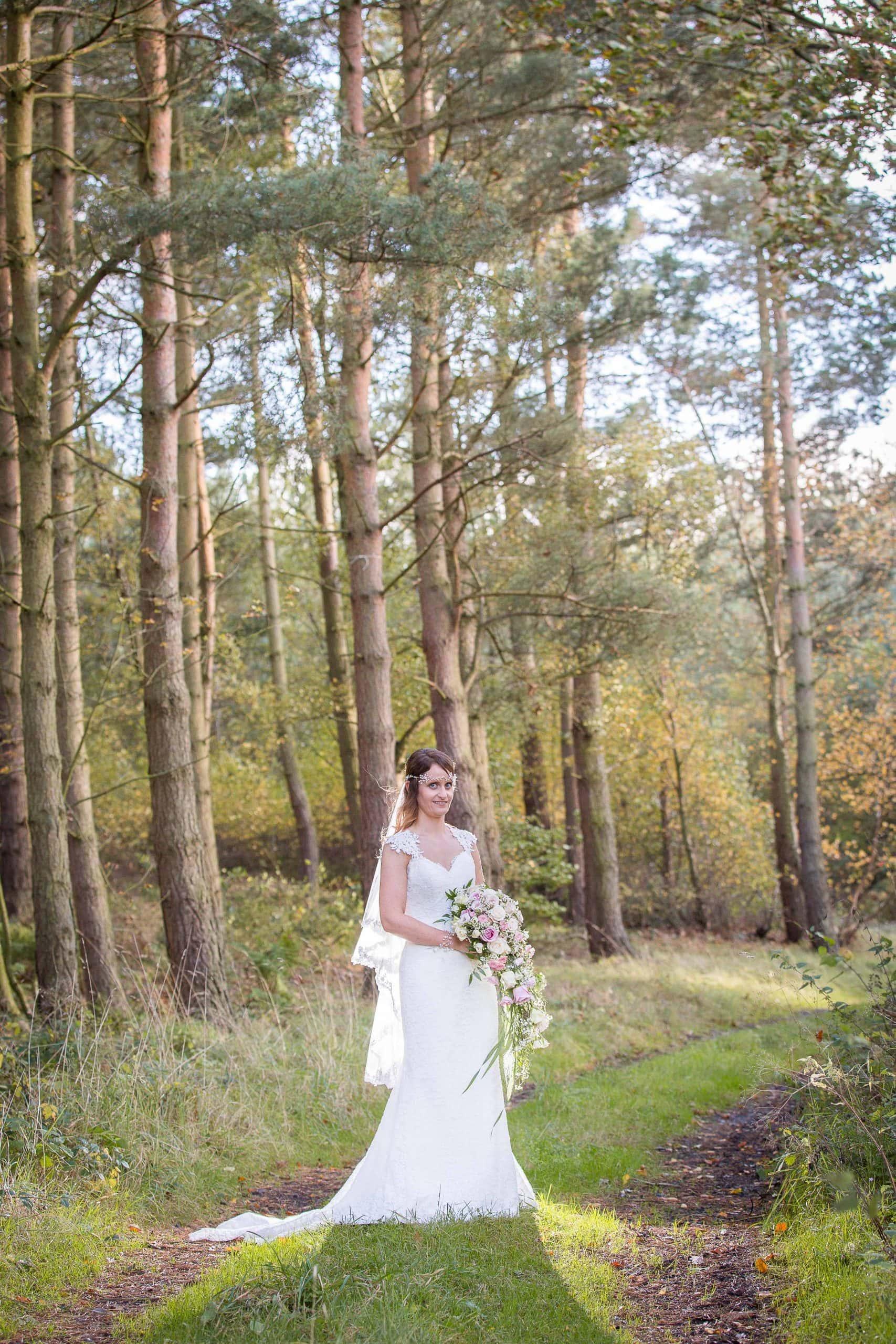 Bridal photo at Healey Barn