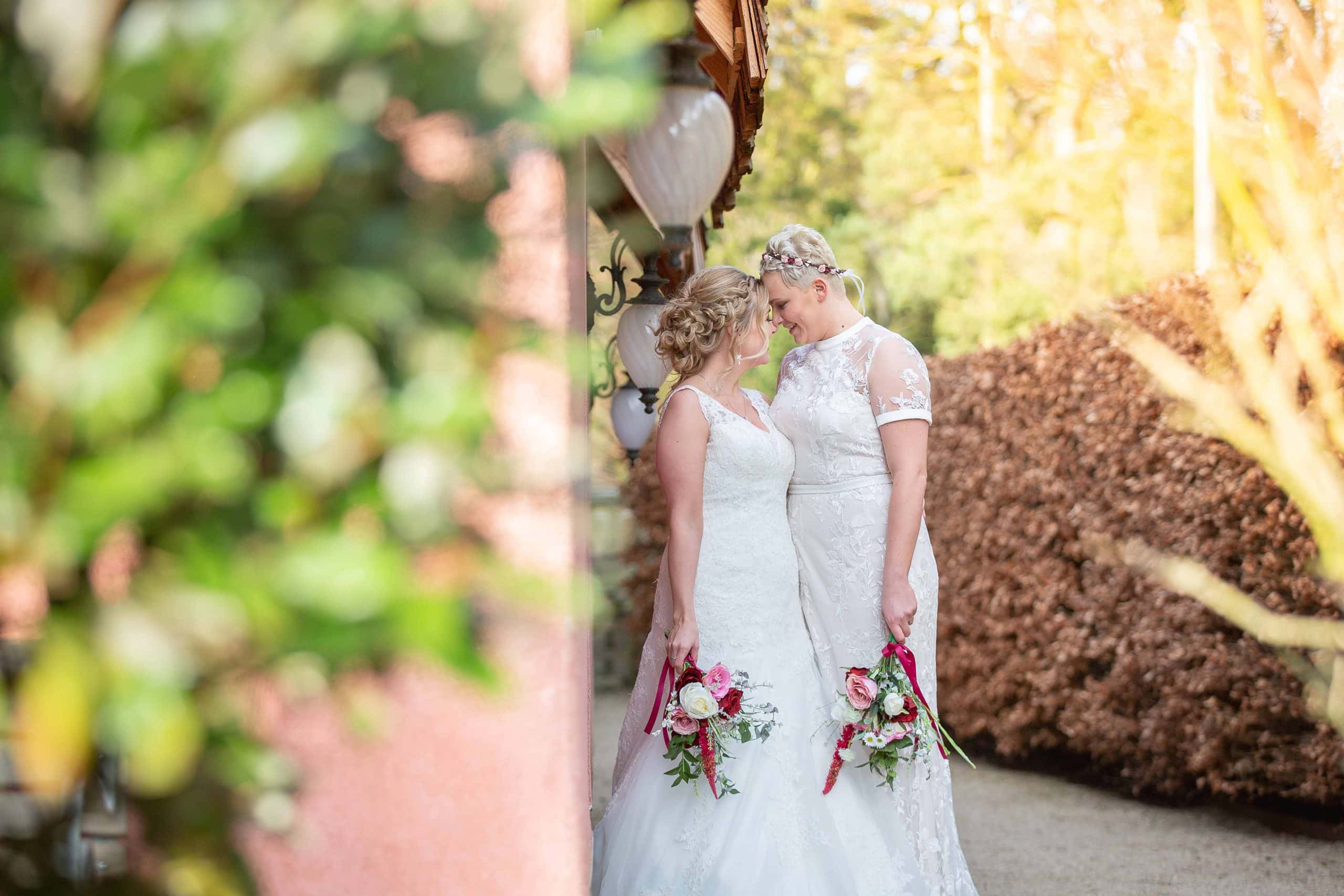Samesex wedding at Le Petit Chateau, Northumberland