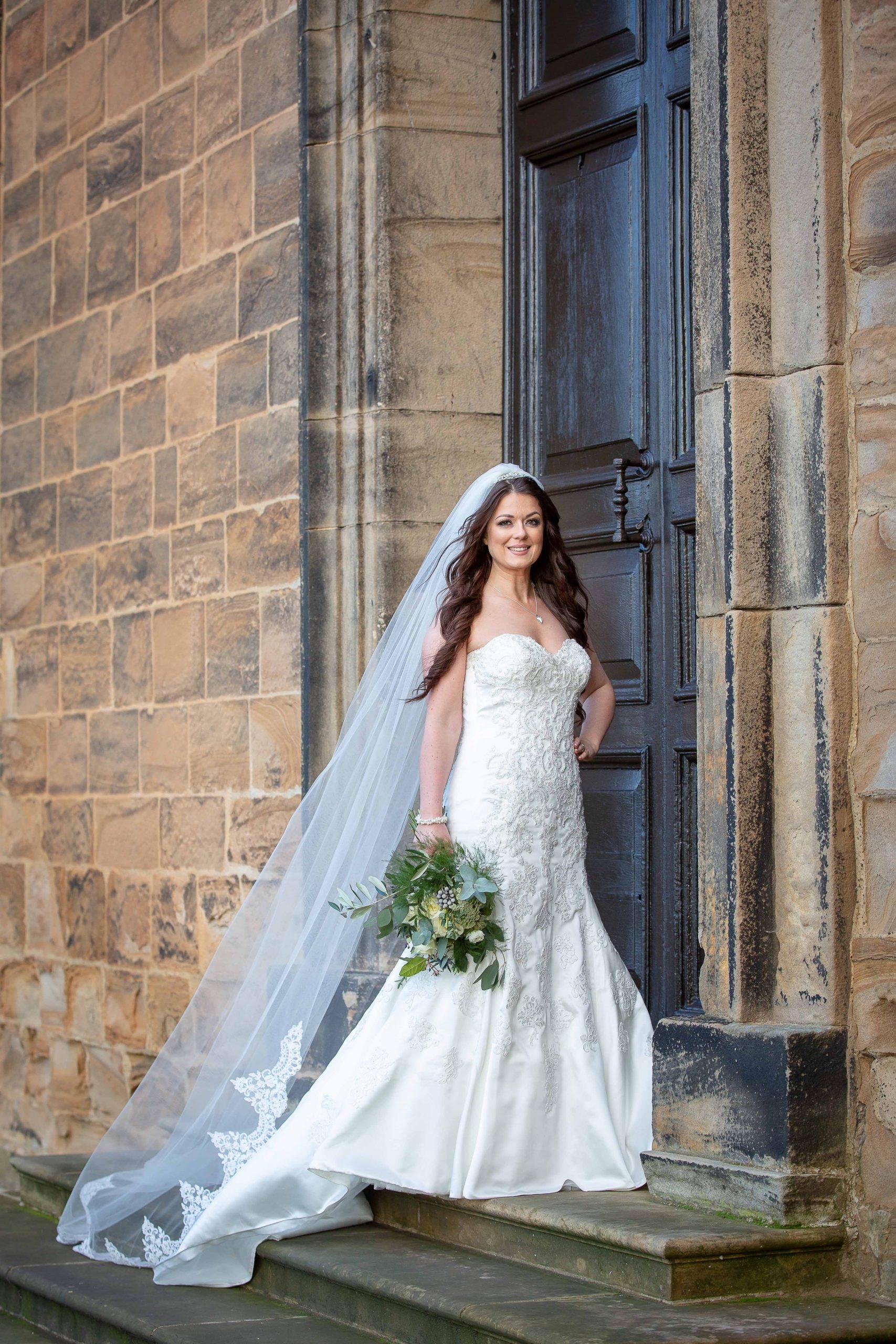 Stunning Lumley castle bride