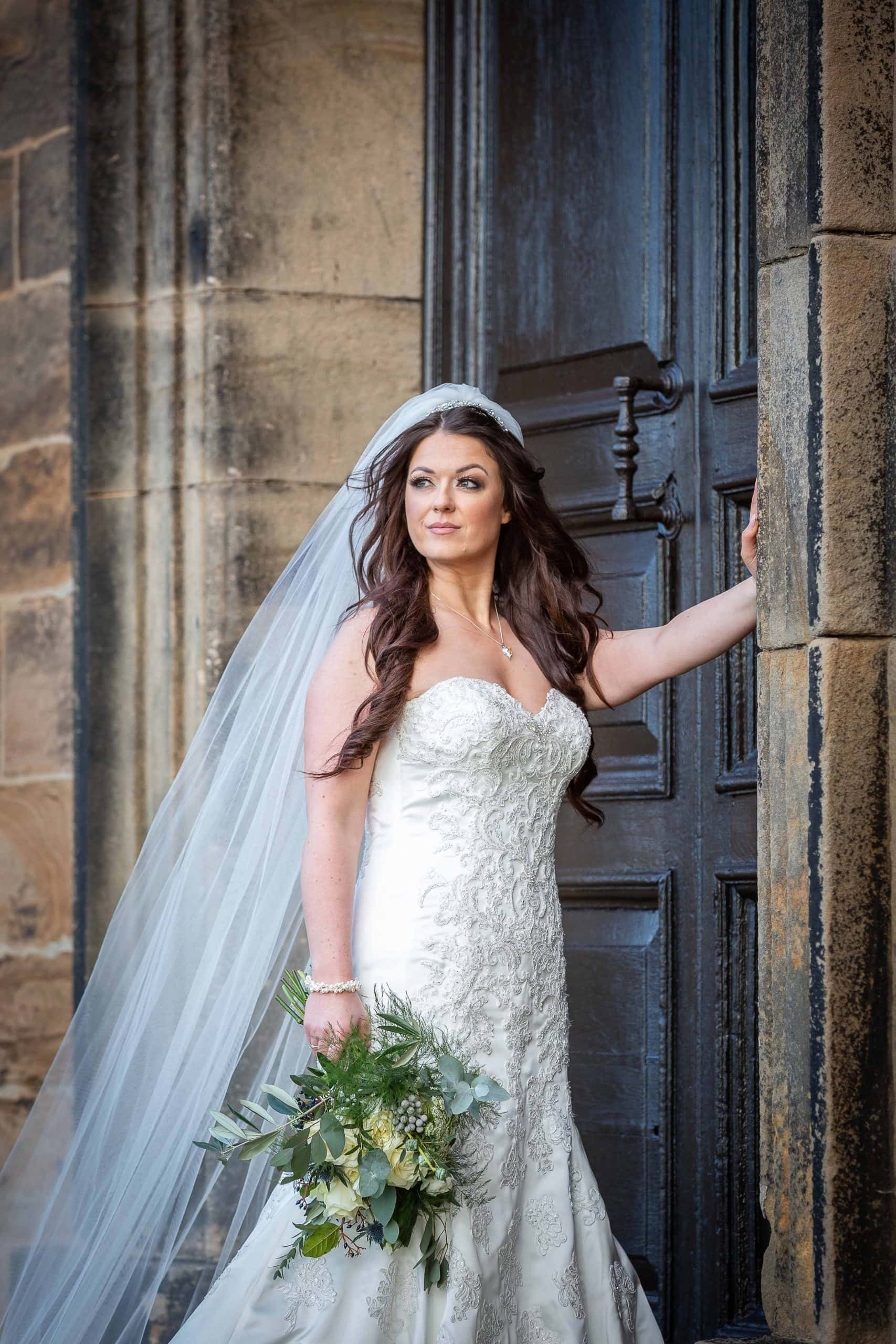 Stunning bride at Lumley Castle