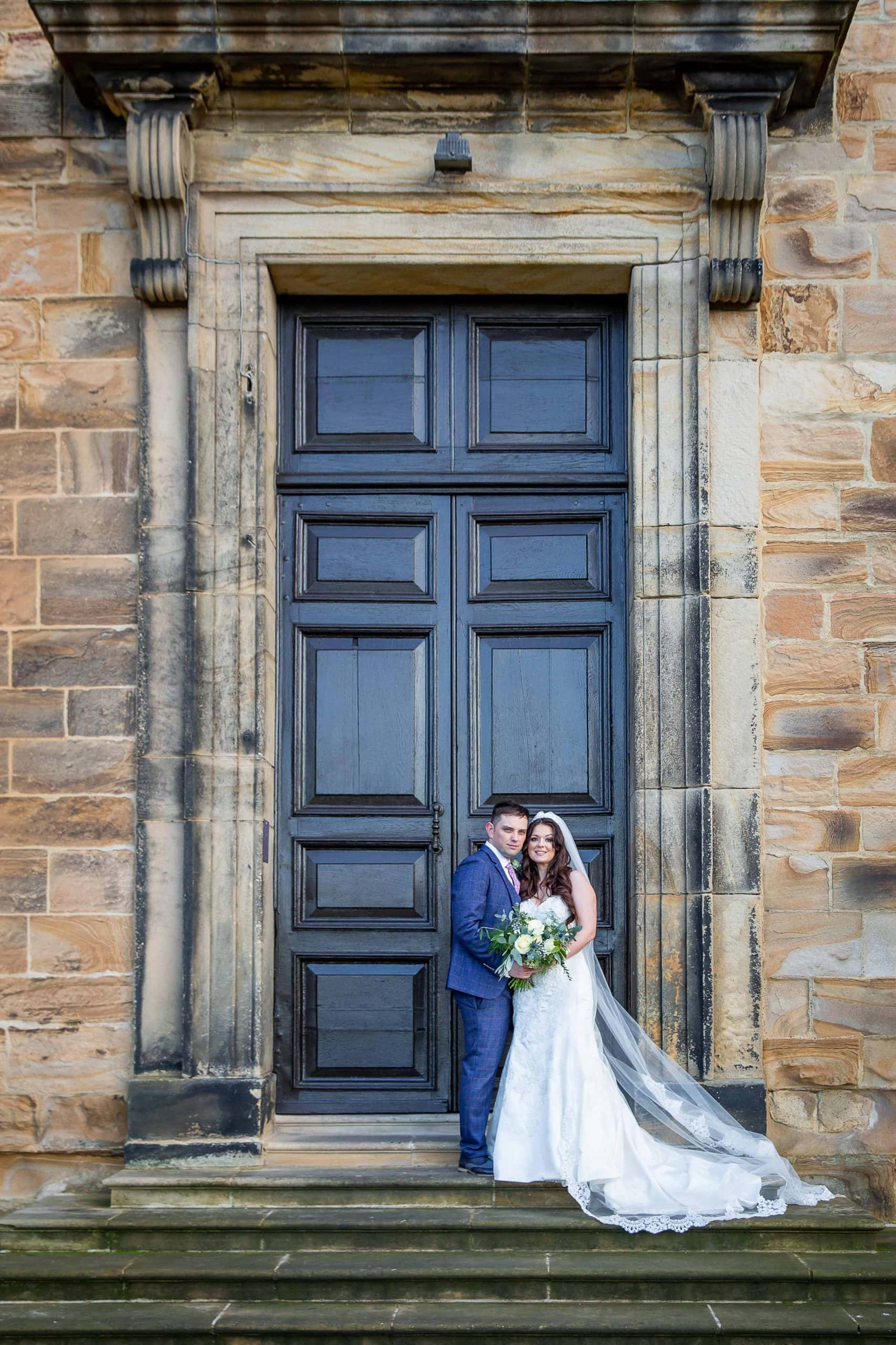 Bride and Groom at Lum Lumley Castle