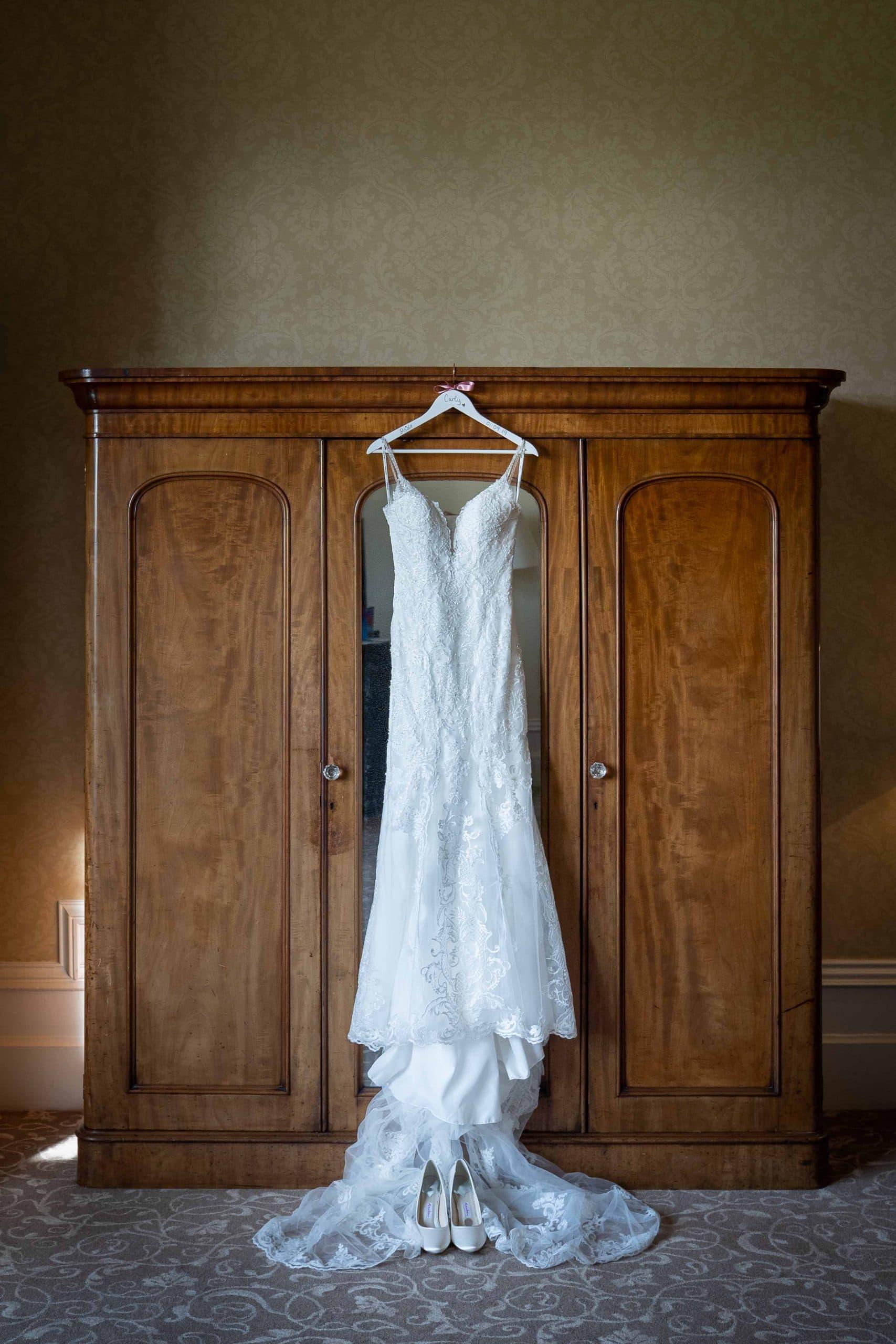 Wedding dress at Matfen hall
