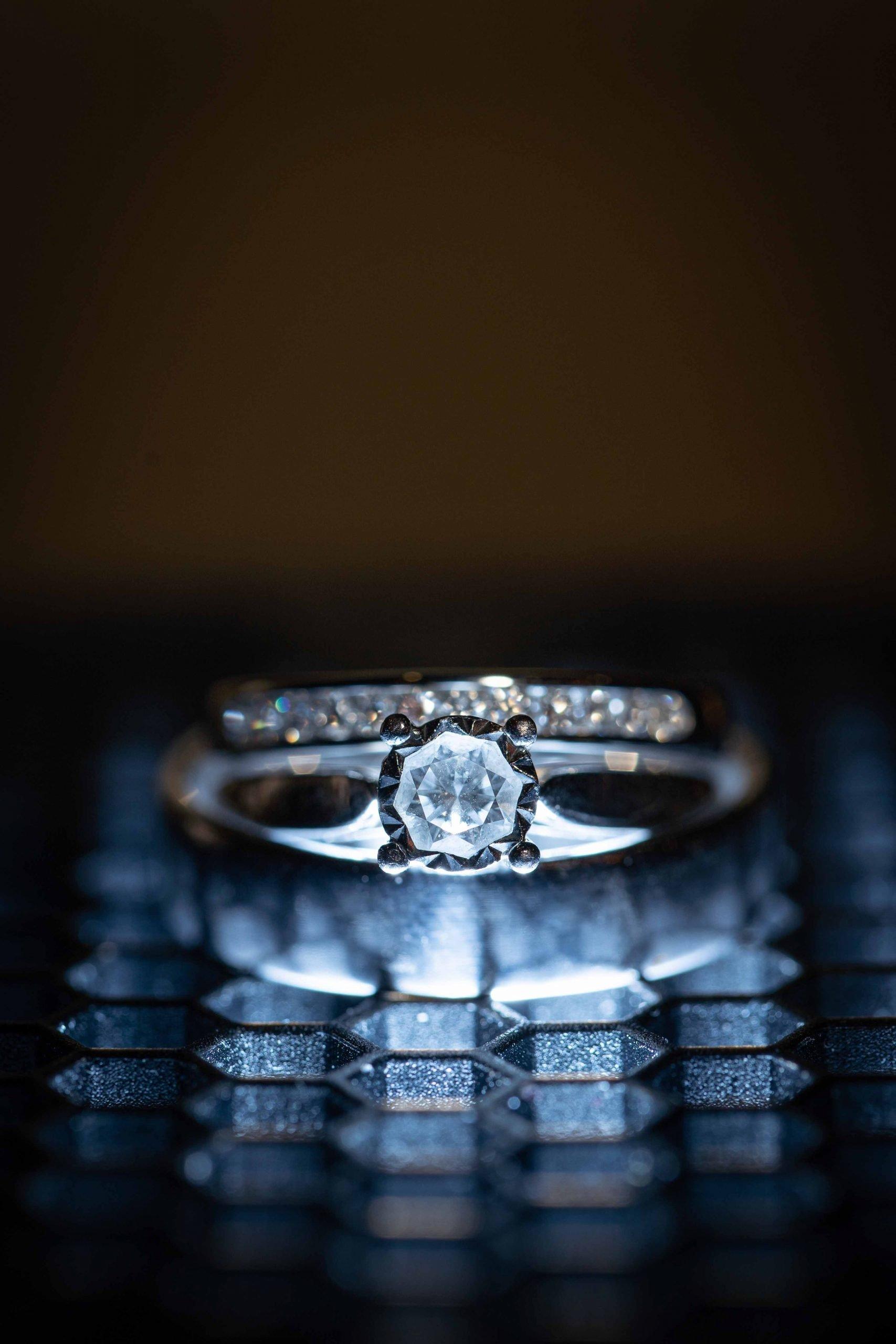 wedding rings at Matfen Hall