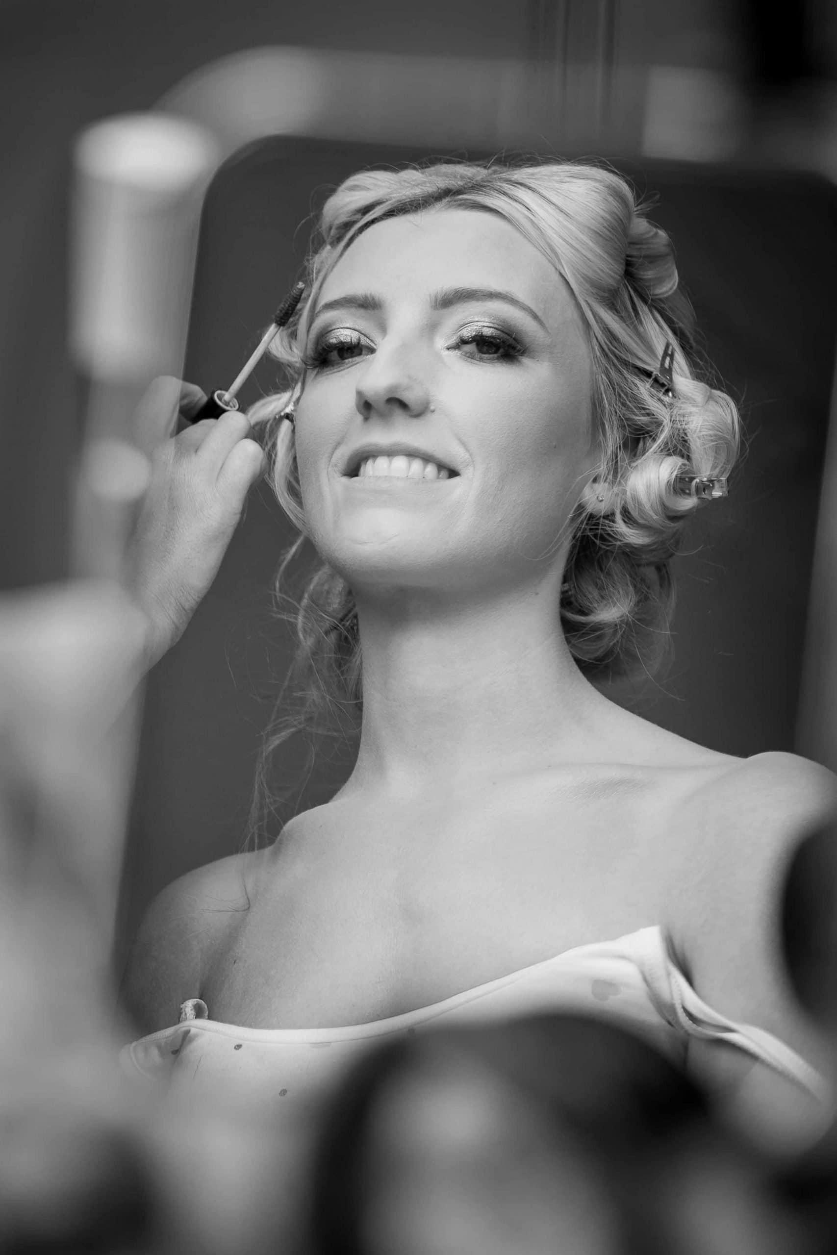 Wedding makeup at Matfen Hall