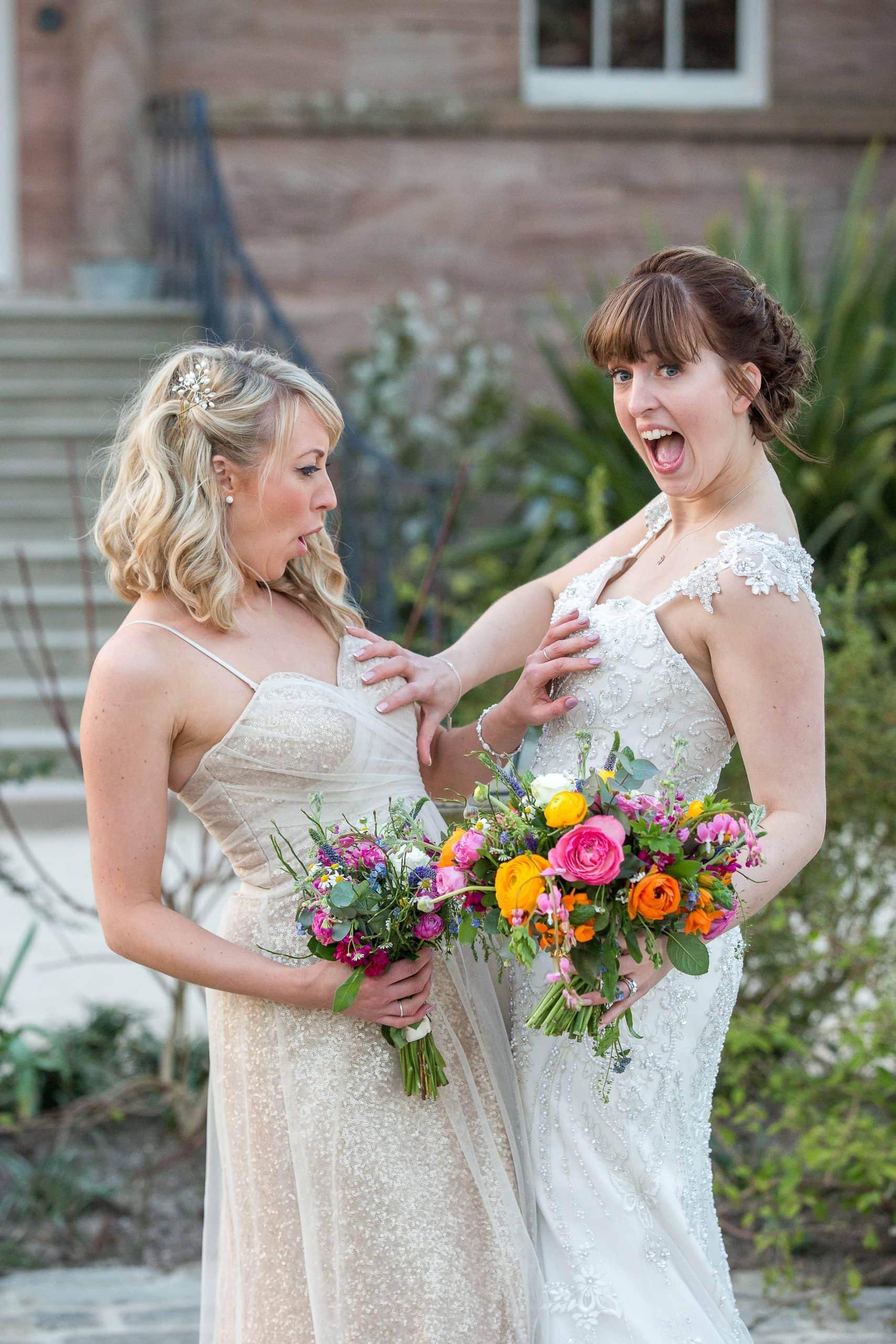 Fun at Newton Hall wedding, by teardrop Photography