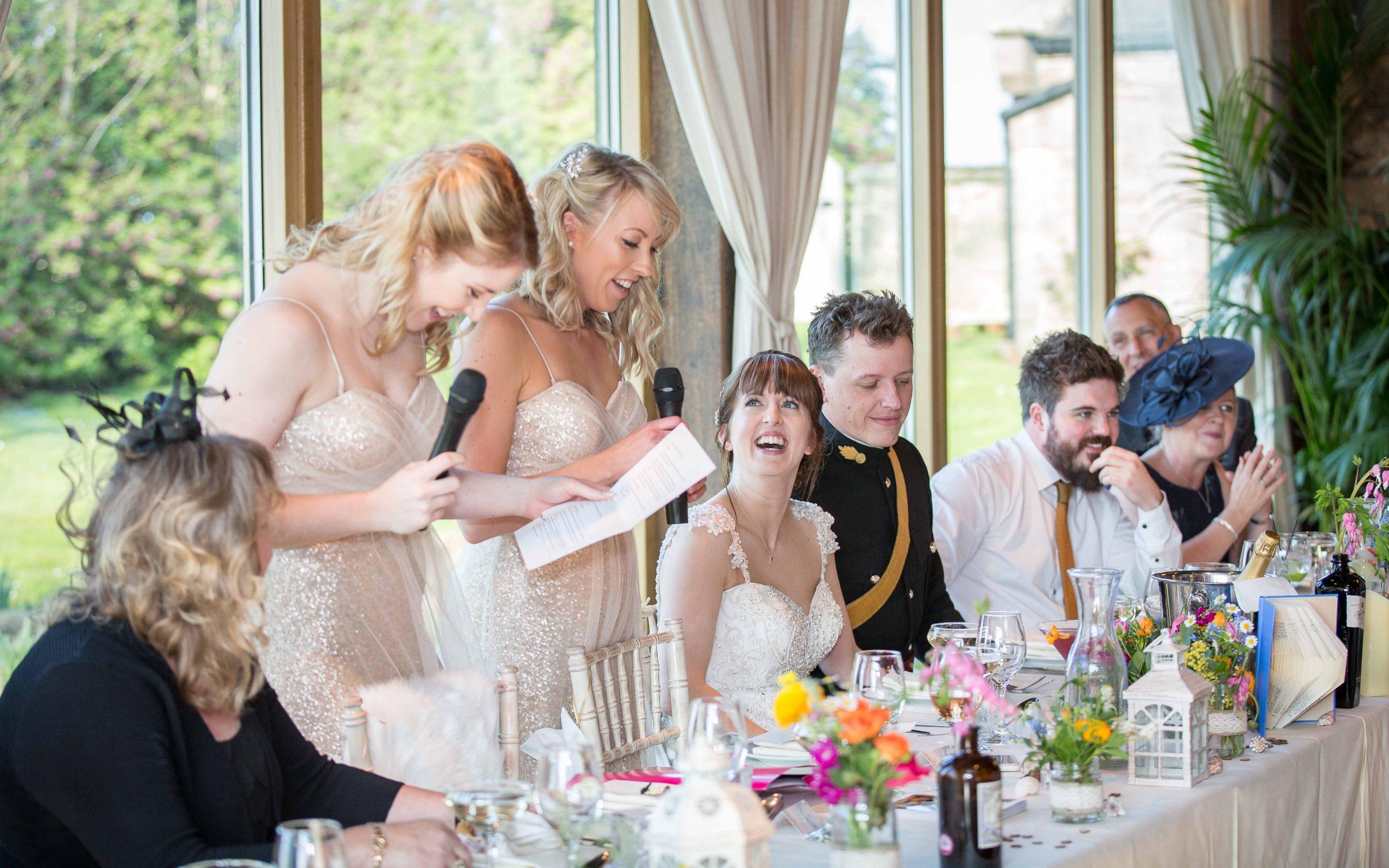 Wedding reception at Newton Hall, Northumberland