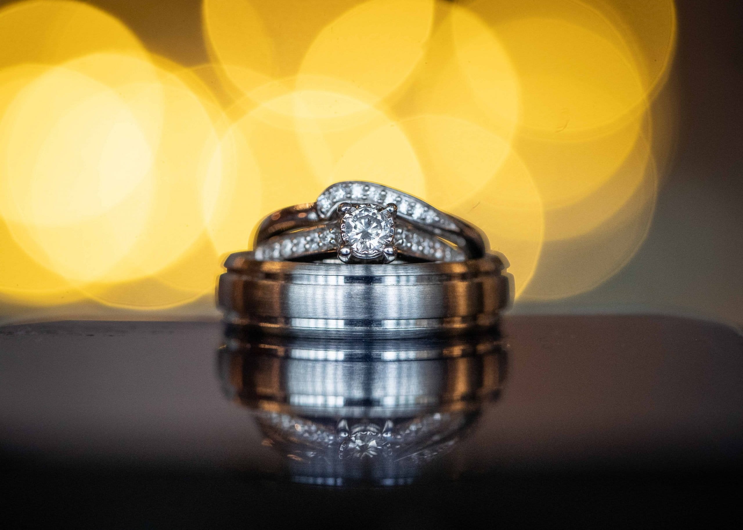 Wedding rings at South Causey Inn