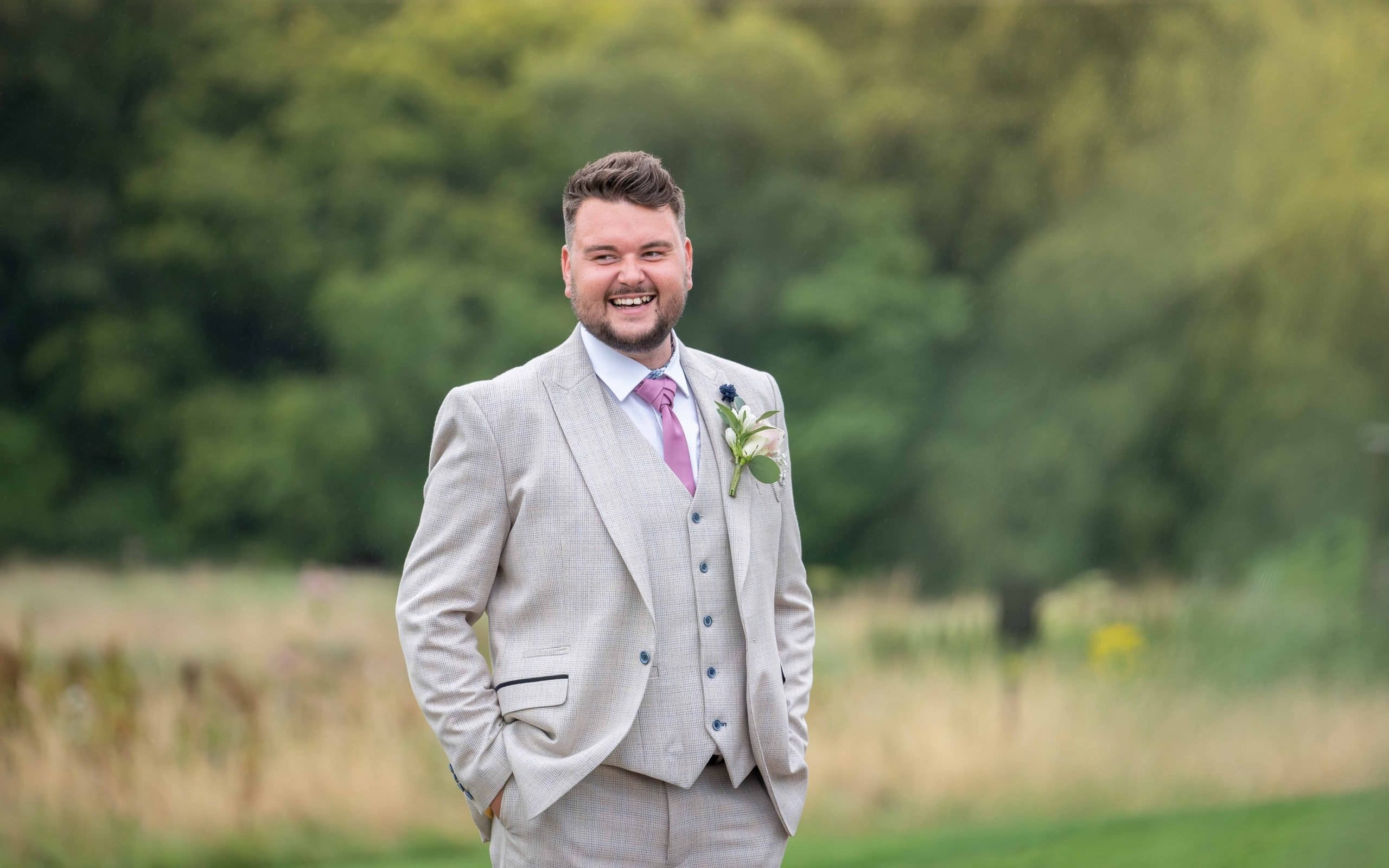 The groom at South Causey Inn Wedding