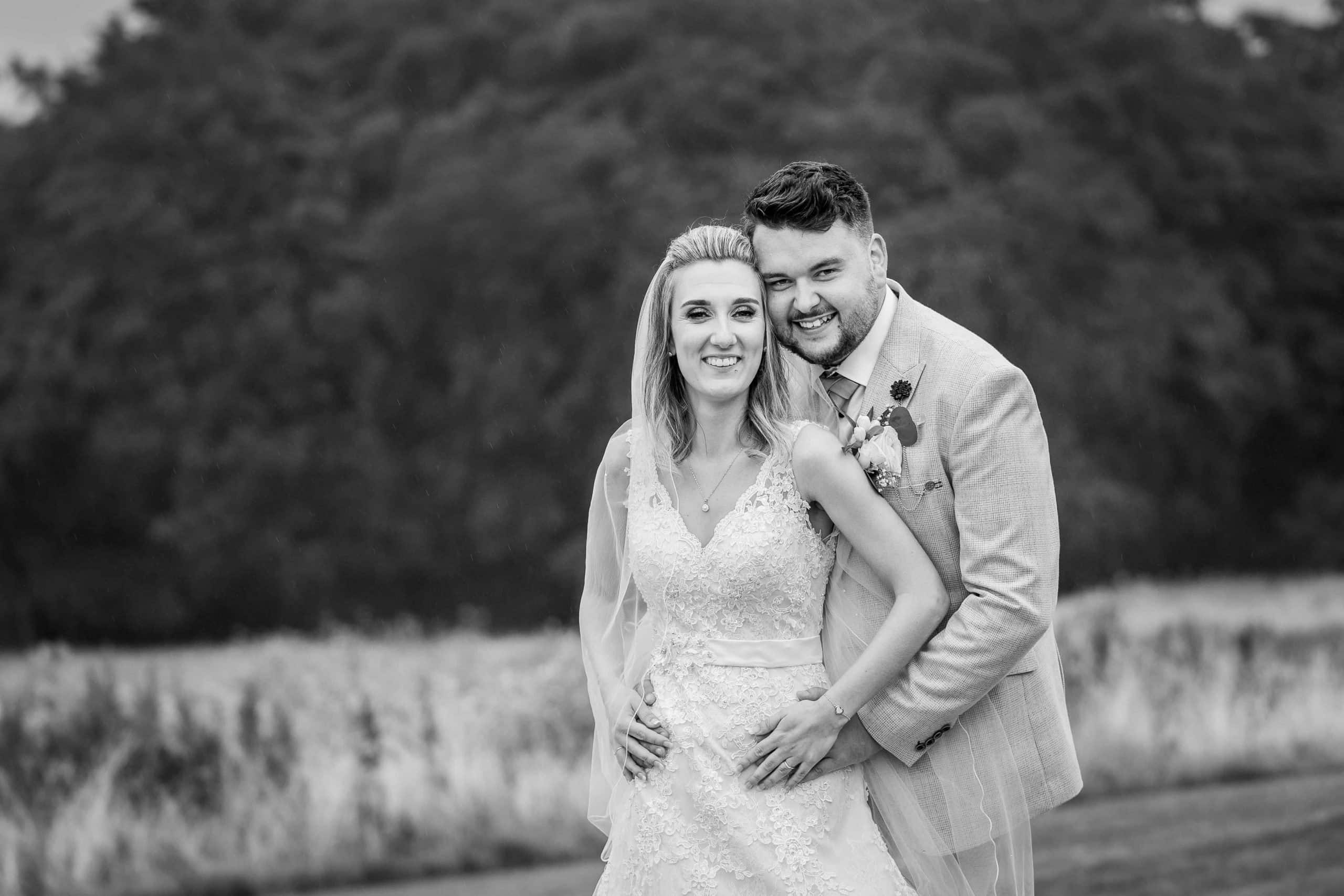 Wedding couple at South Causey Inn