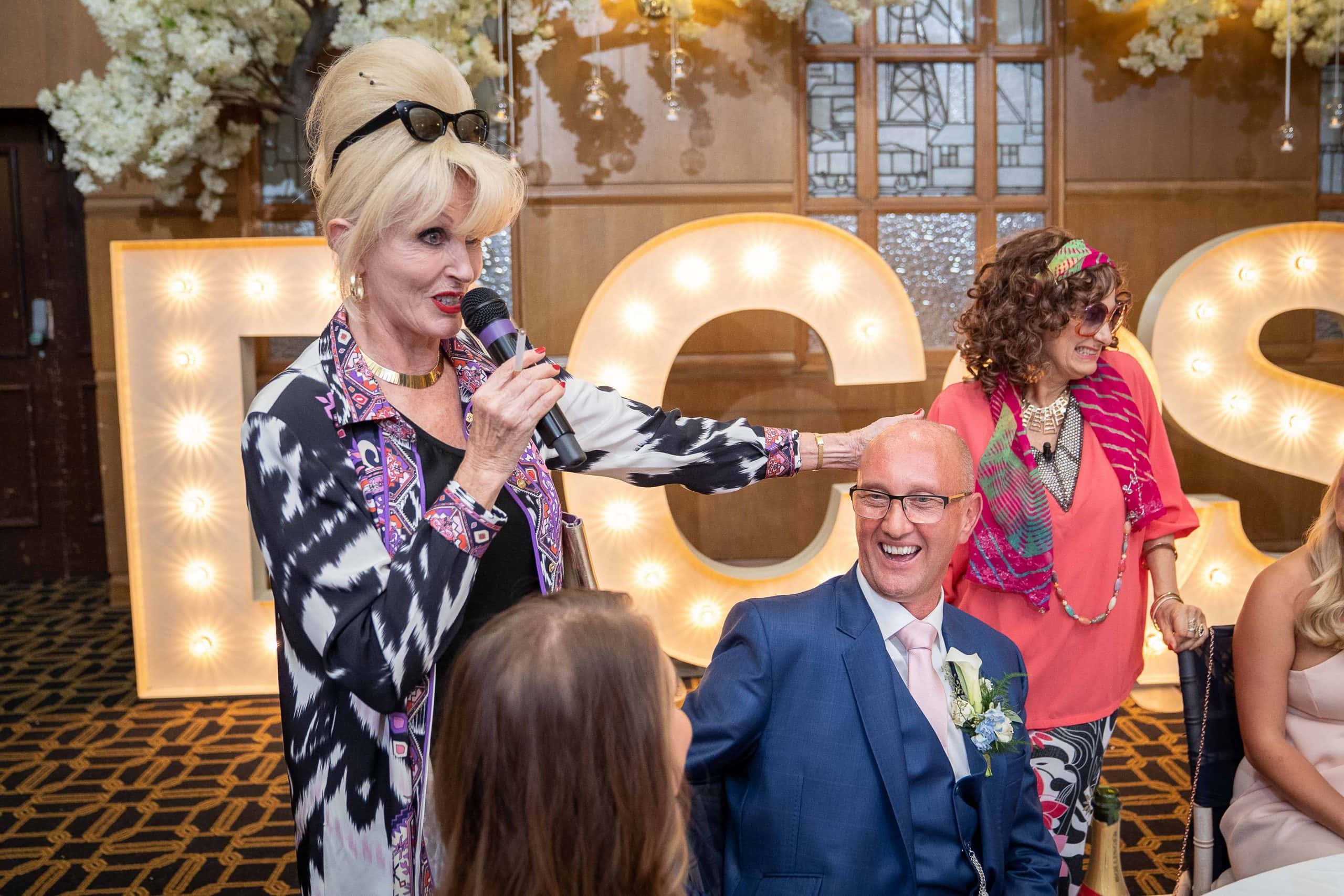 absolutely fabulous impersonators at Vermont Hotel wedding