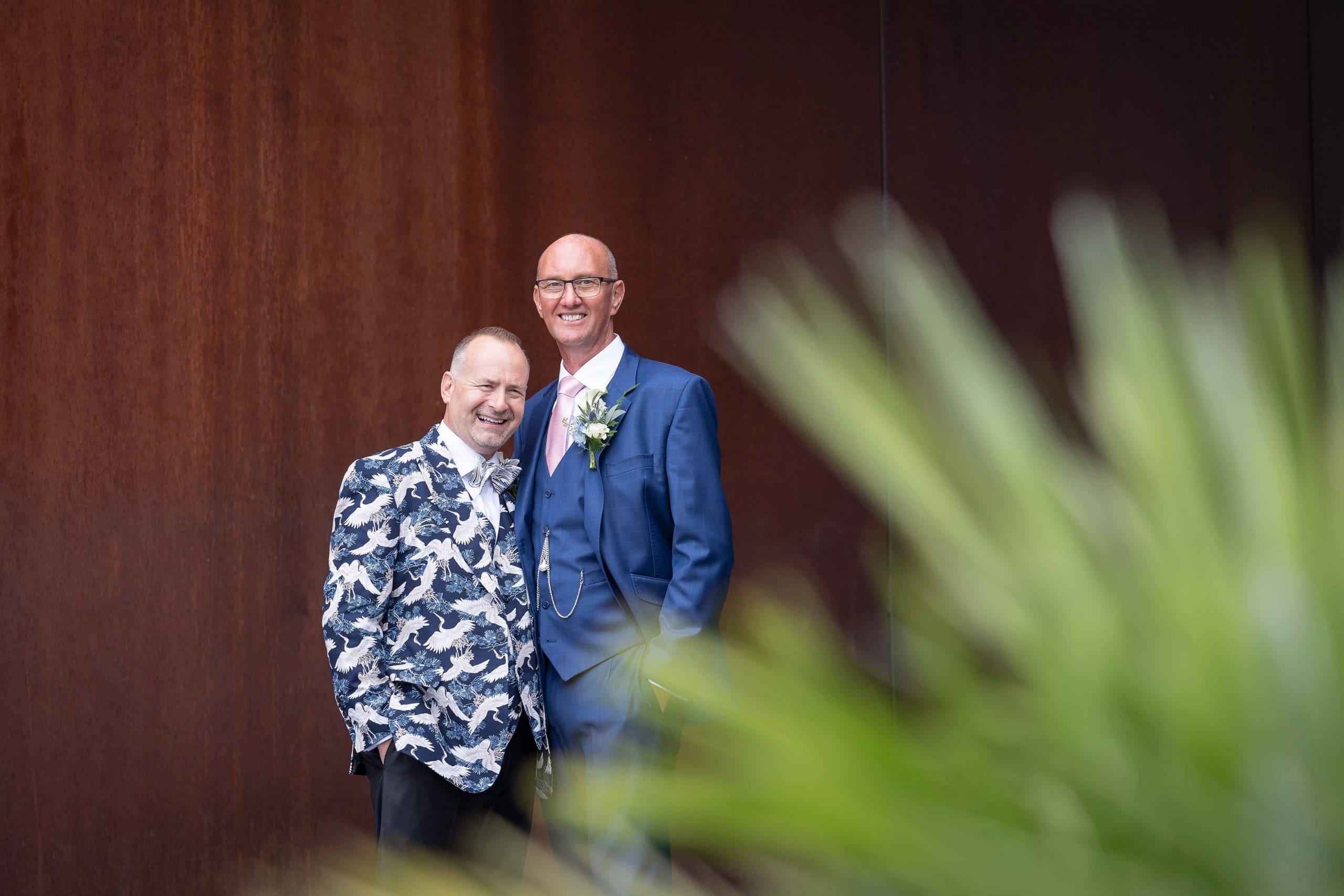 Wedding couple at Gateshead Quayside