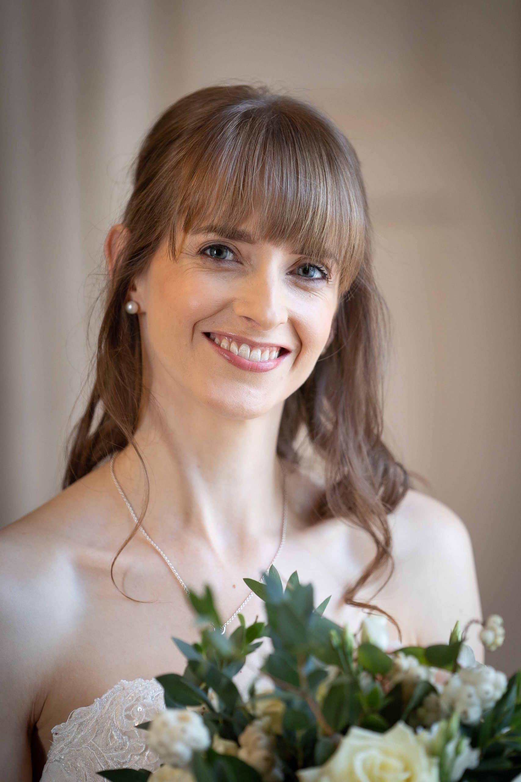 Beautiful bridal photo at Walworth Castle