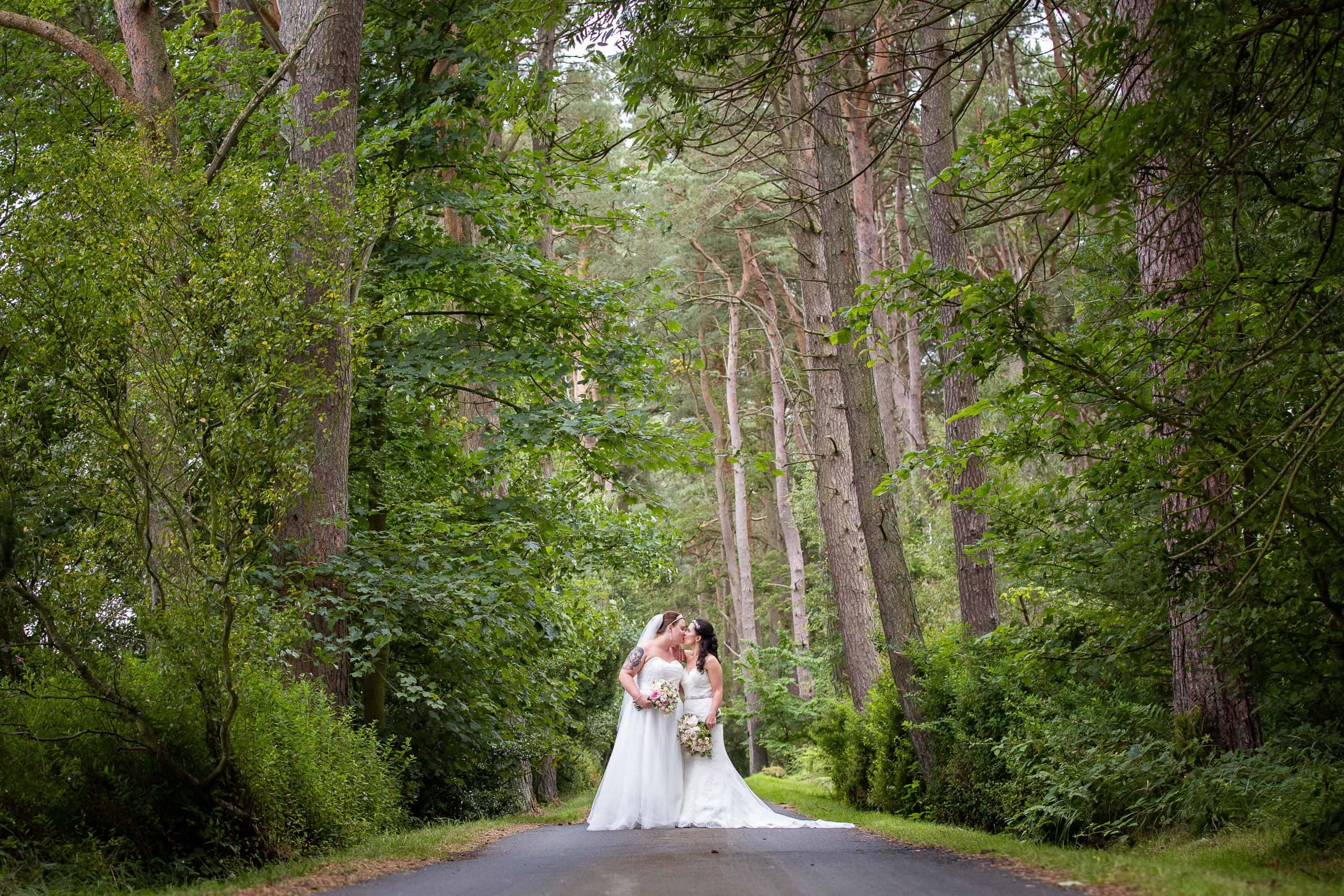 Wedding portraits at Woodhill Hall