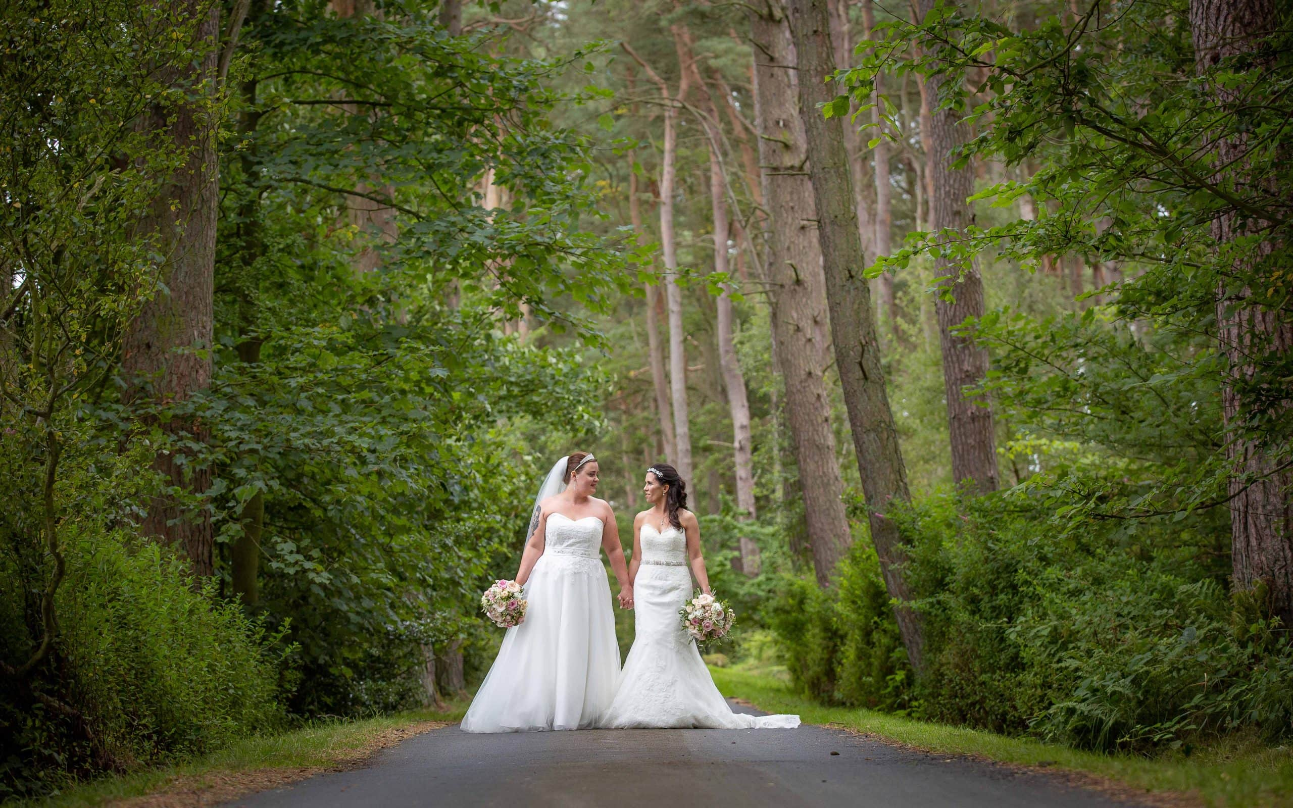 Beautiful brides at Woodhill Hall