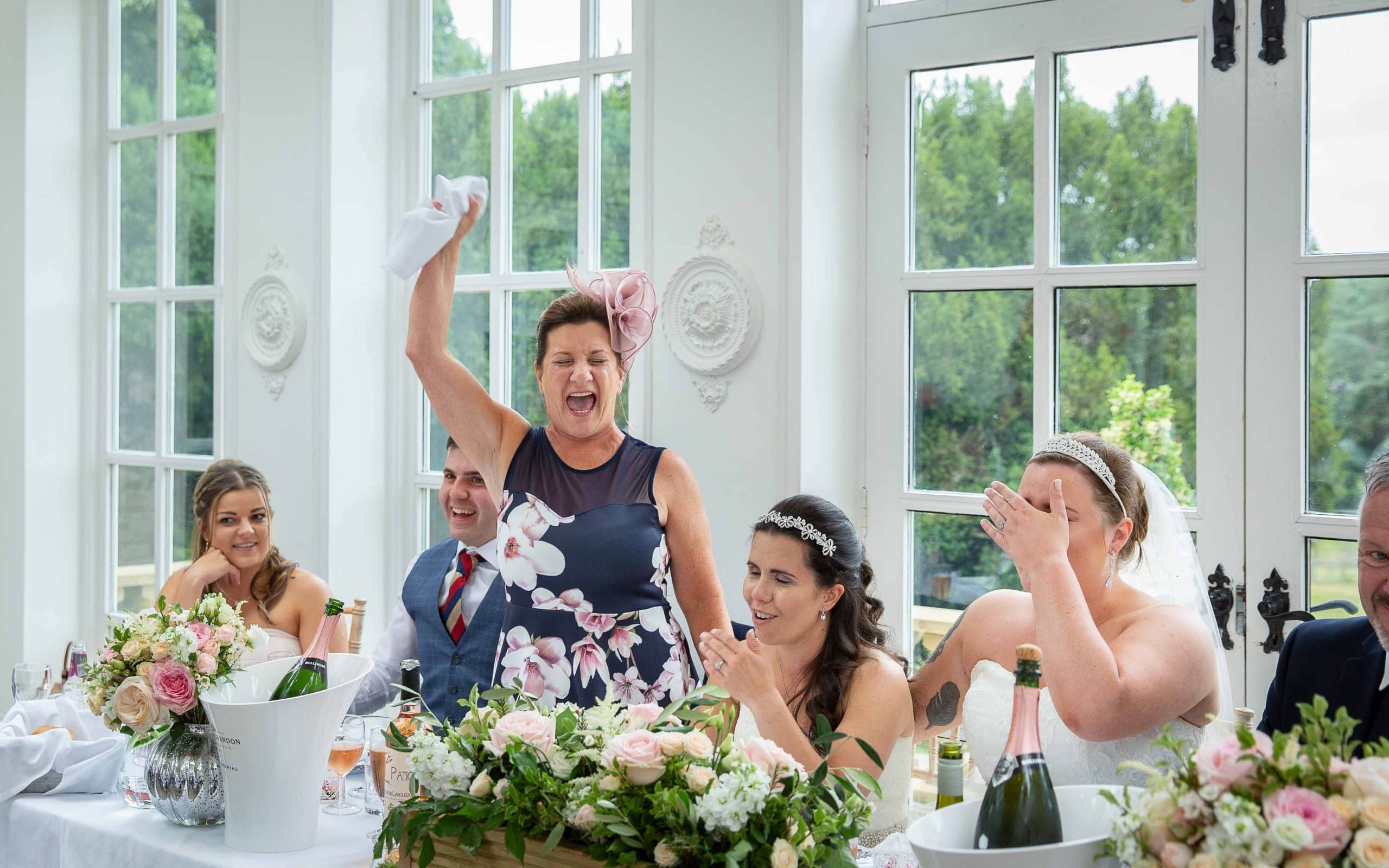 Wedding speeches at Woodhill Hall
