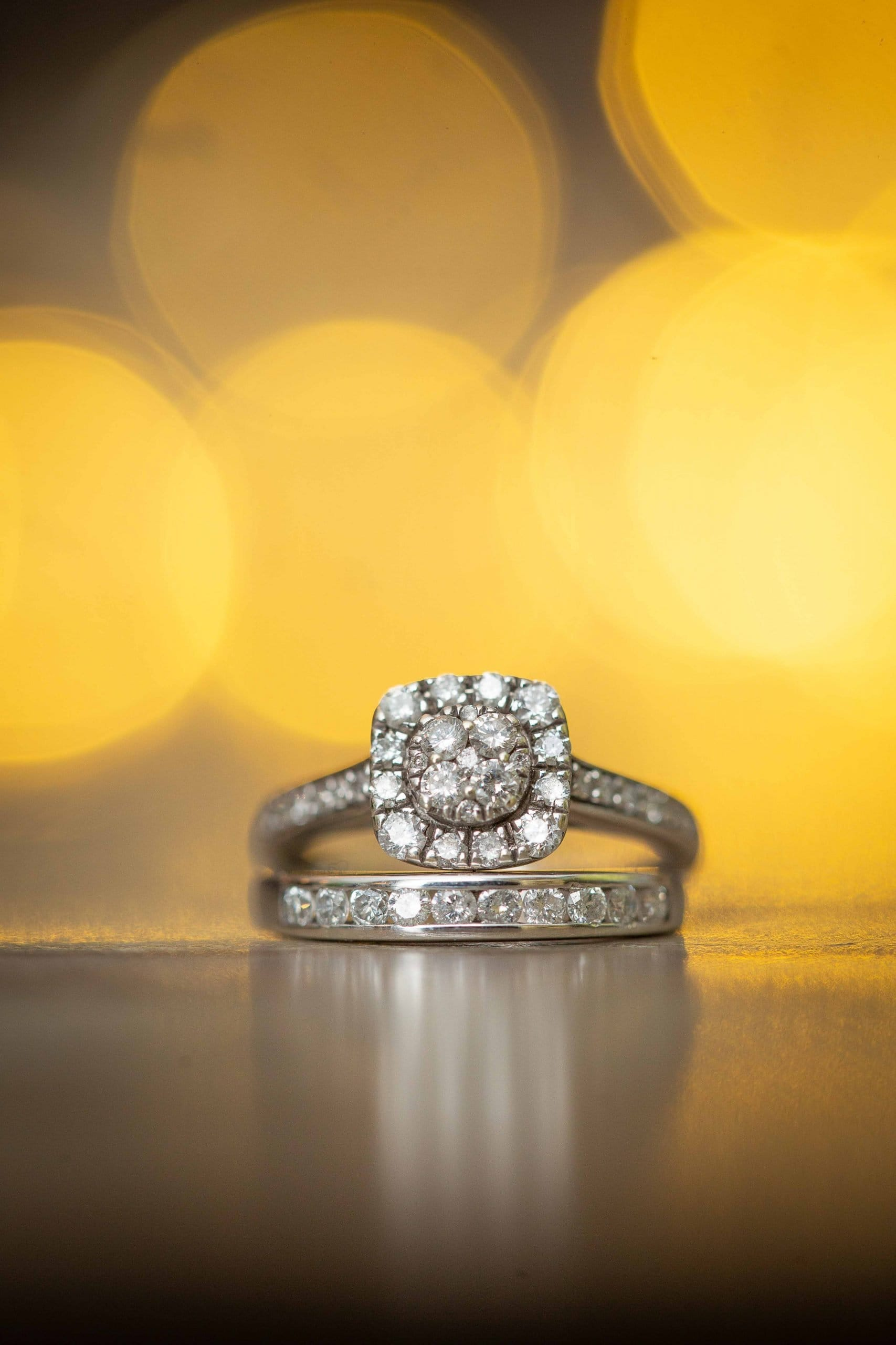 Wedding rings at Woodhill Hall
