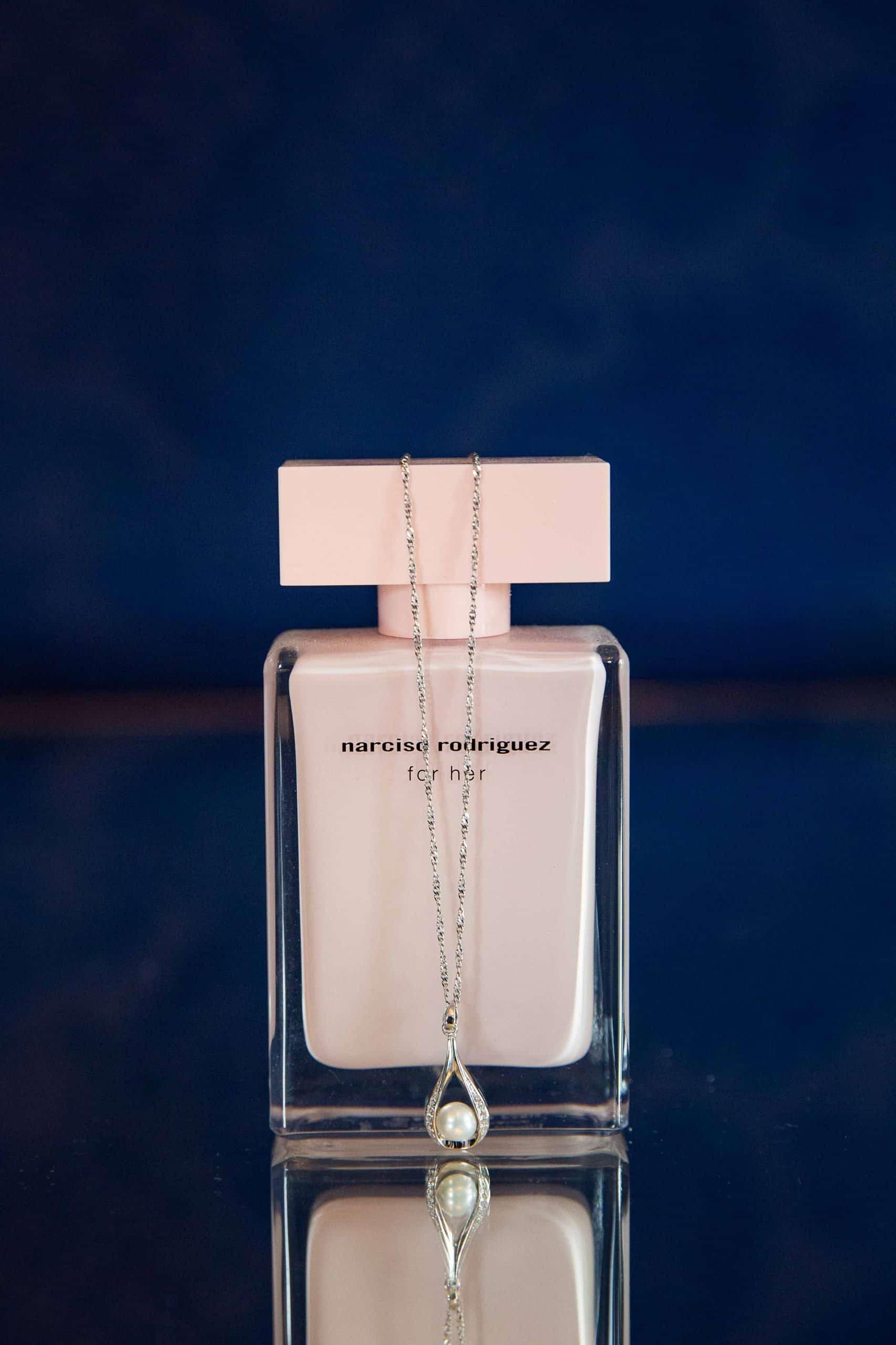 Brides perfume at Woodhill Hall