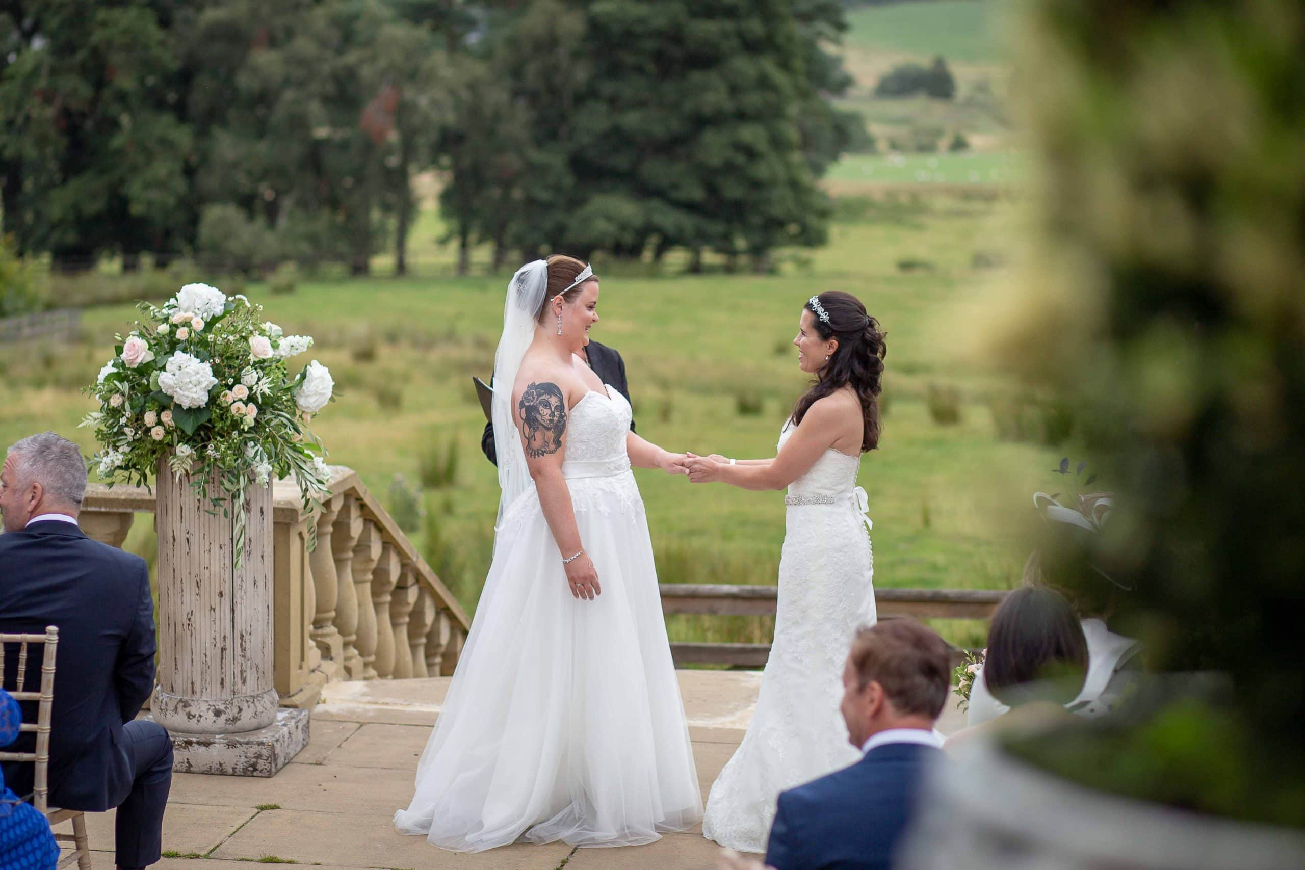 Wedding ceremony at Woodhill Hall