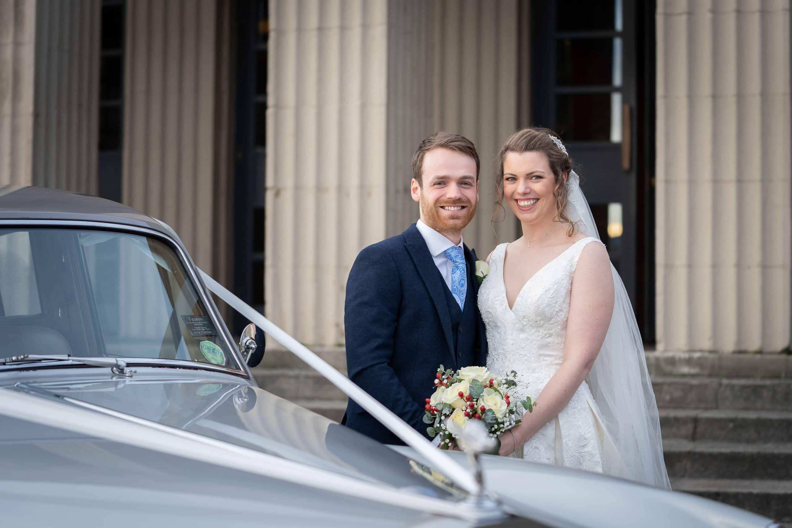 Newly married couple at Wylam Brewery