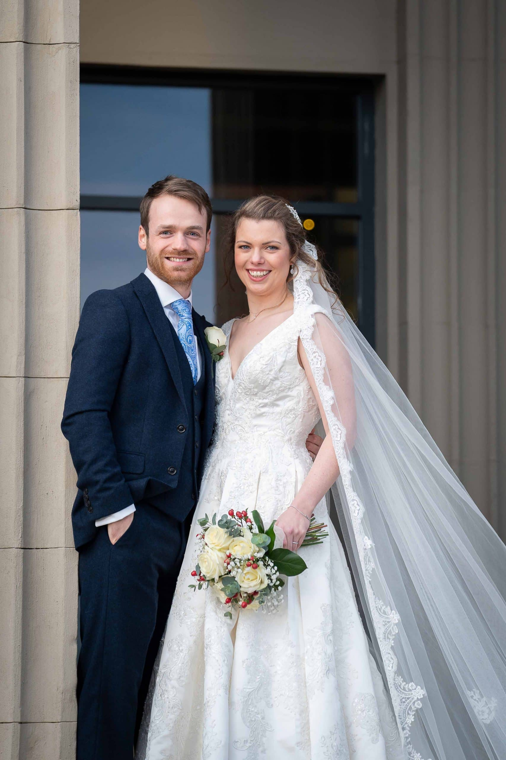 Bride and Groom at Wylam Brewery