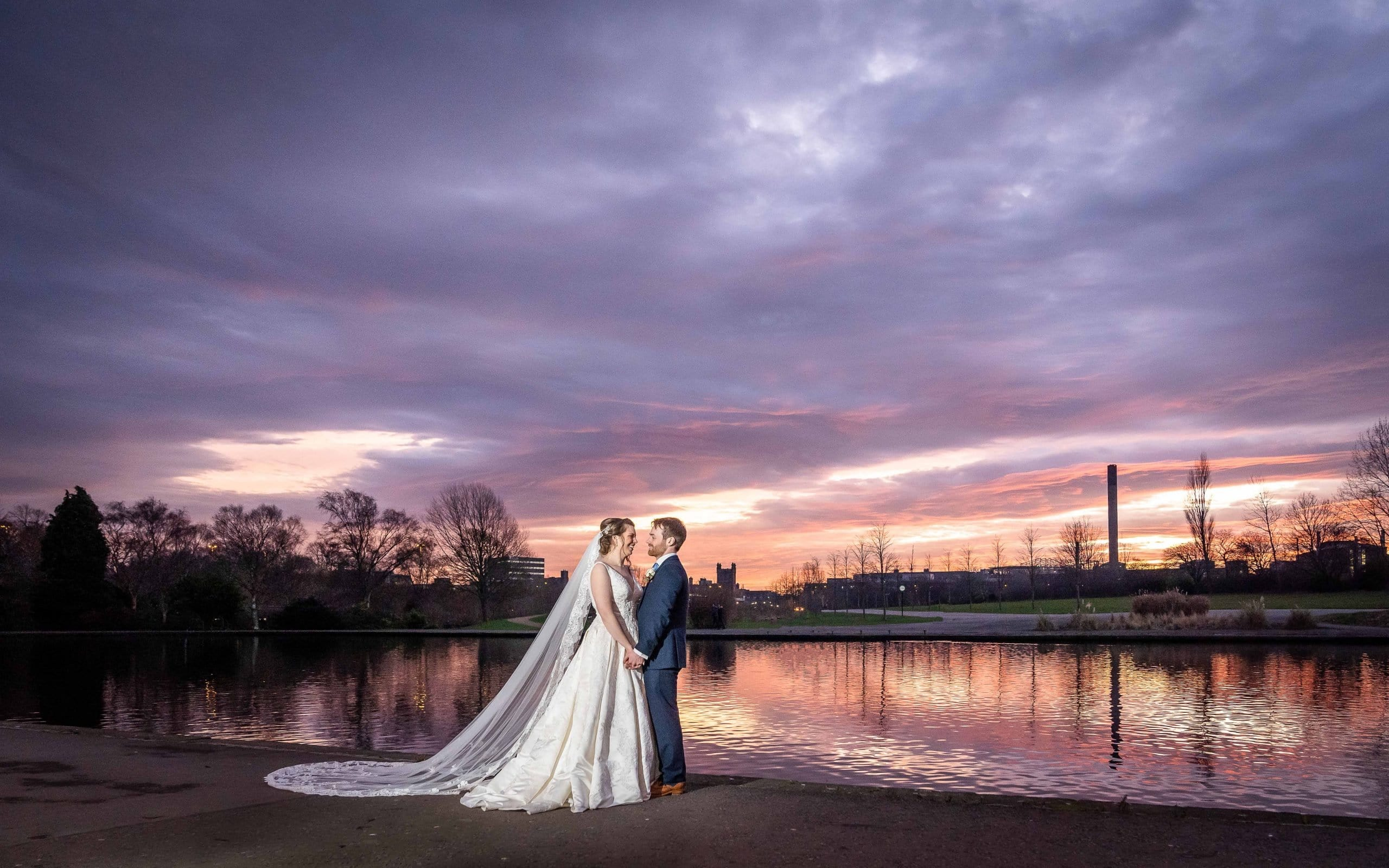 Sunset photo at Wylam Brewery
