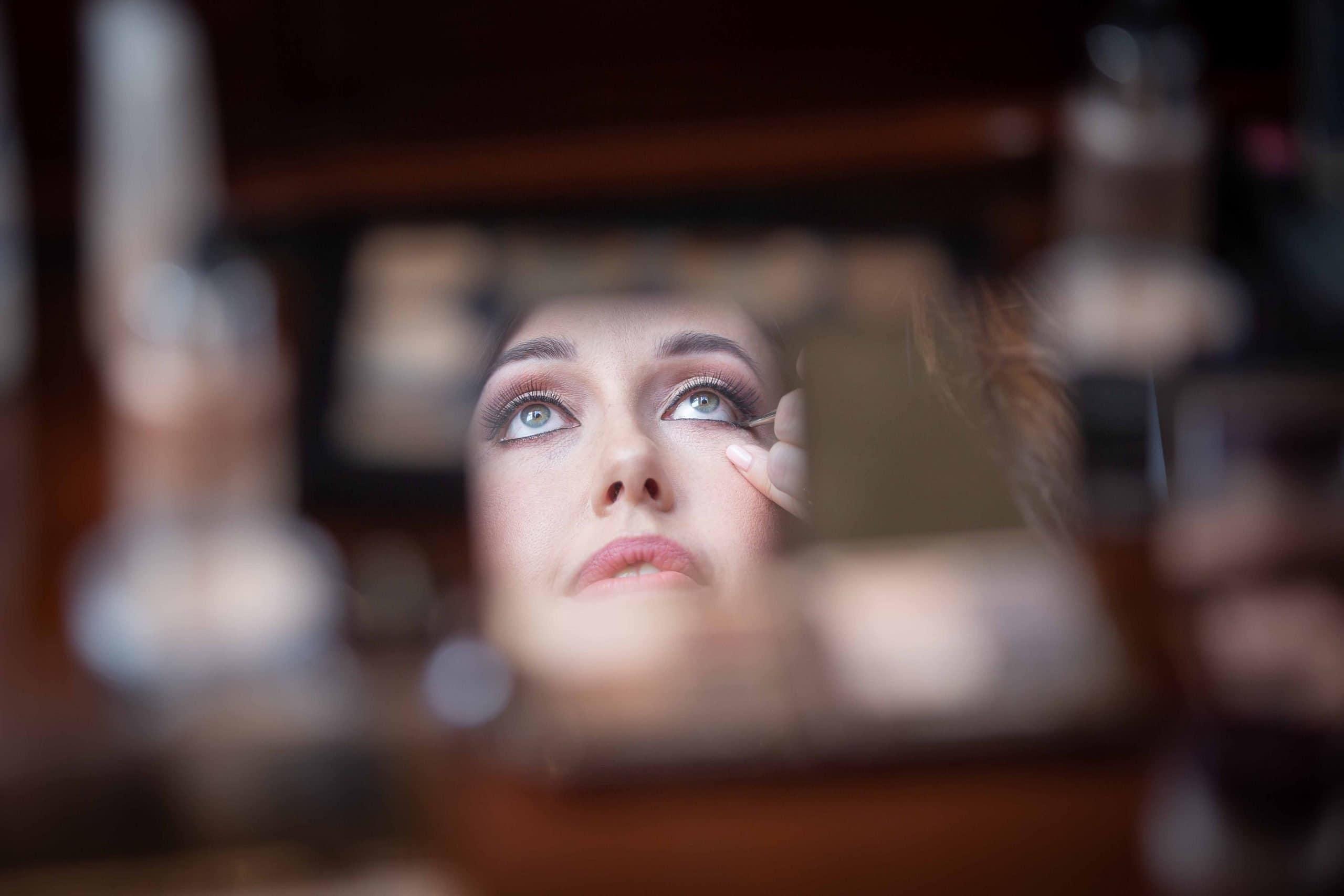 Brides makeup at Wynyard Hall