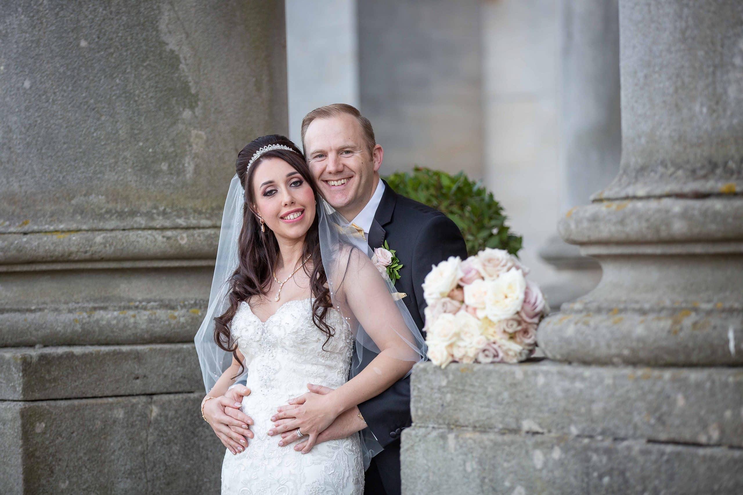 Happy couple at Wynyard Hall