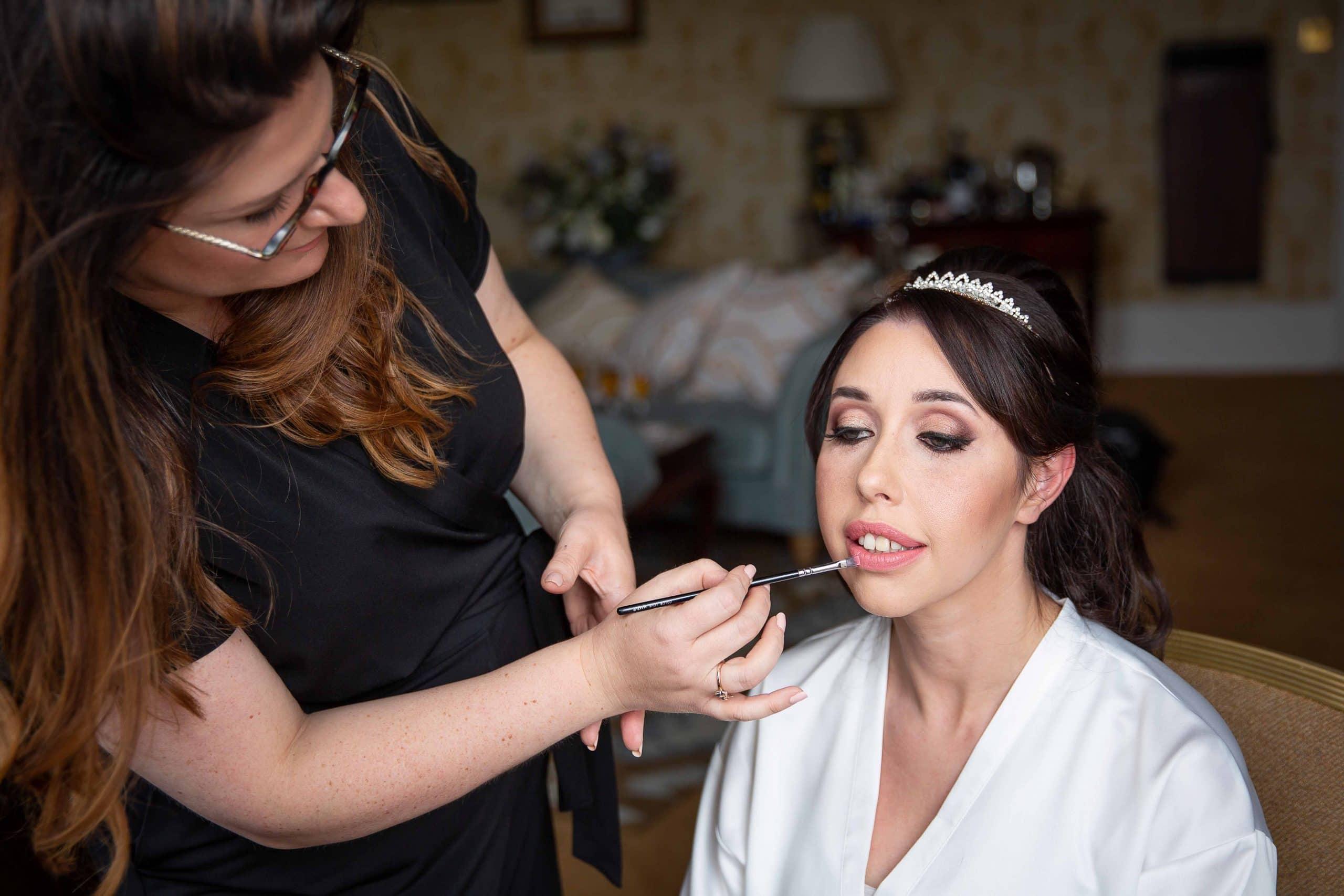 Bridal prep photography at Wynyard Hall